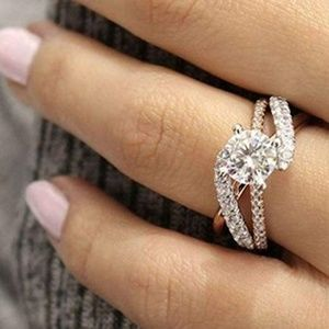 Promise Ring Rose Gold Engagement Wedding size 10